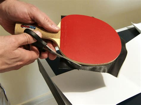 how long is a table tennis table gluing long pimples rubber the easiest way