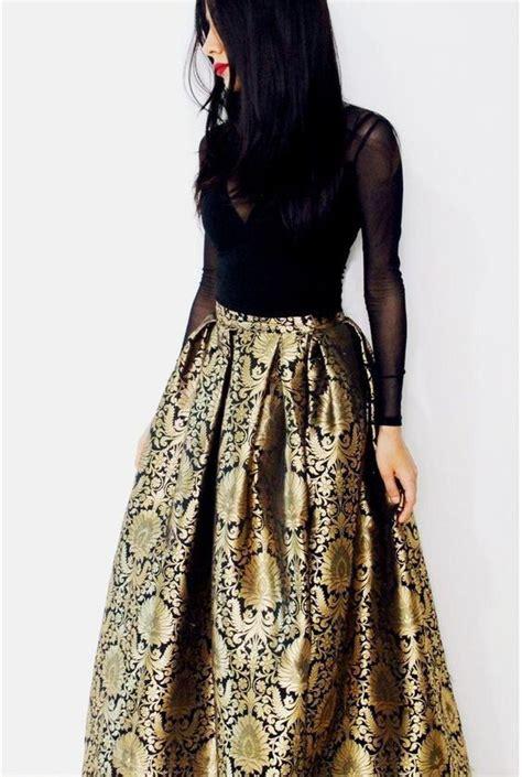 Brocade Maxi black brocade maxi skirt brocade skirt