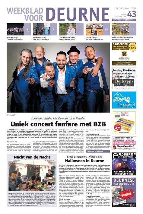 t huis vlierden weekblad voor deurne wk43 by das publishers issuu