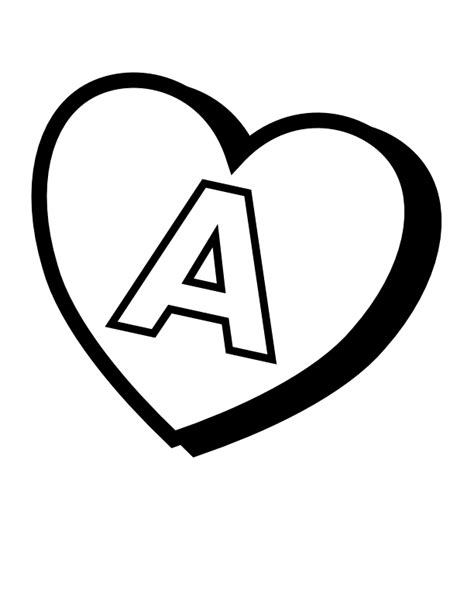 file valentines day hearts a alphabet at coloring pages