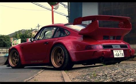 porsche rauh rwb porsche 911 rauh welt begriff 964 low red driveway