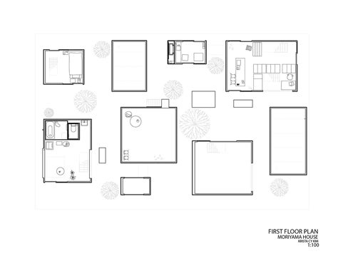 Precedent Study Moriyama House On Behance Moriyama House Plan
