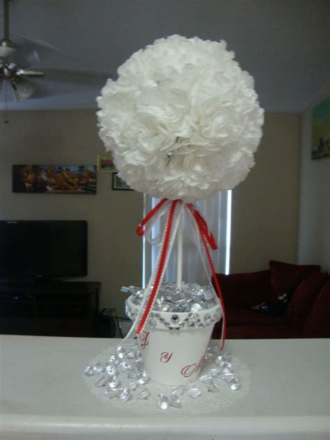 topiary tree centerpieces topiary tree wedding centerpiece coffee filter flower