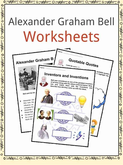 alexander graham bell biography worksheet invention worksheets for kids the best and most