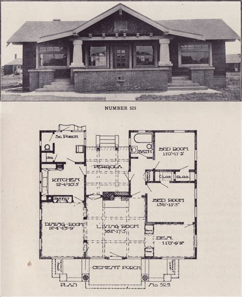 old bungalow house plans american craftsman bungalow house plans