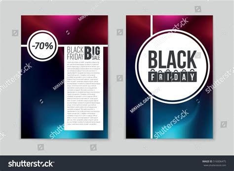 booklet layout sle abstract vector black friday sale layout stock vector