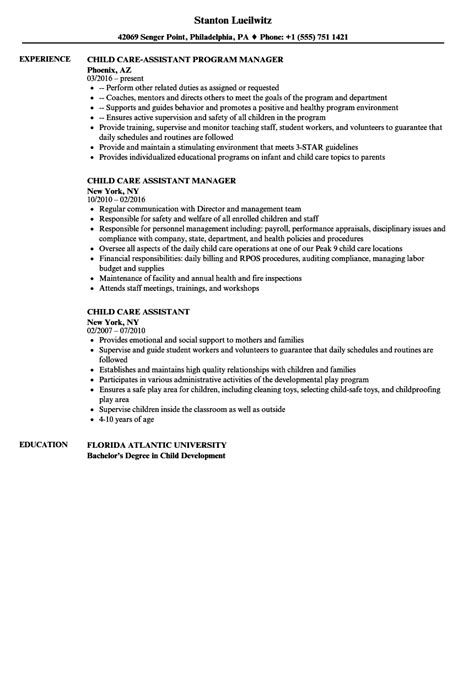 Child Care Assistant Resume child care assistant resume sles velvet