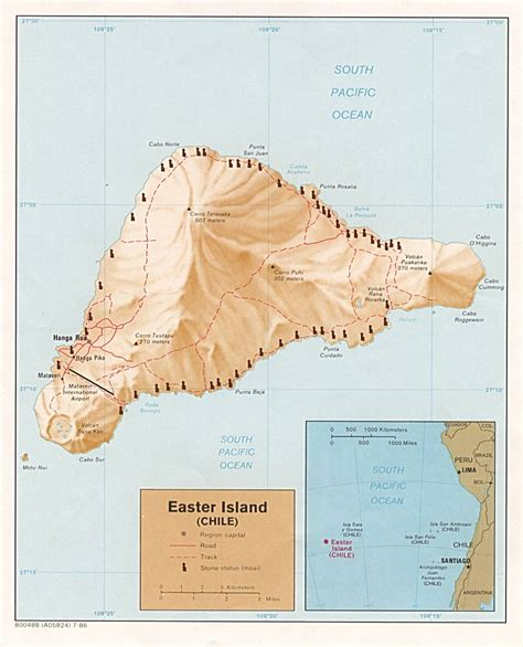 where is easter island on a world map easter island map free printable maps