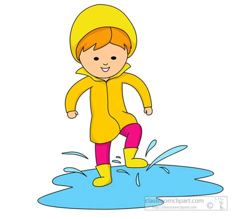 Puddle Clipart weather splashing in a puddle of water classroom clipart
