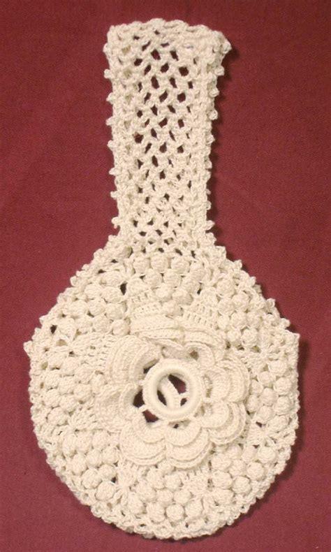 crochet pattern yarn holder hand crocheted yarn holder rosette and popcorn pattern