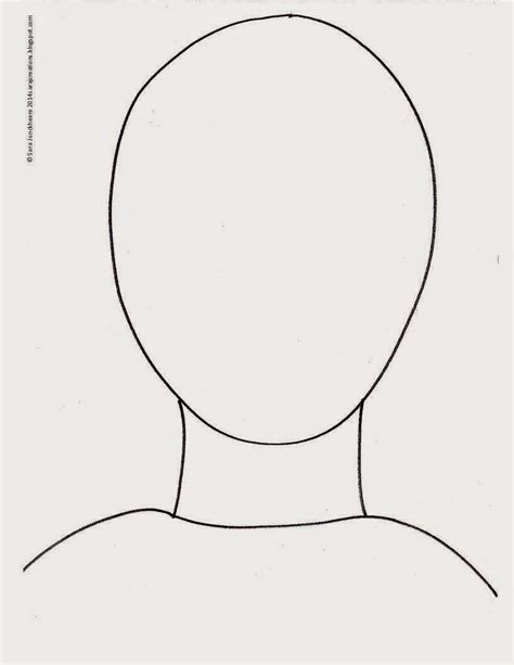 free headshot template outline template www imgkid the image kid has it