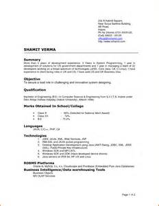 New Resume Format by Format Of Cvreference Letters Words Reference