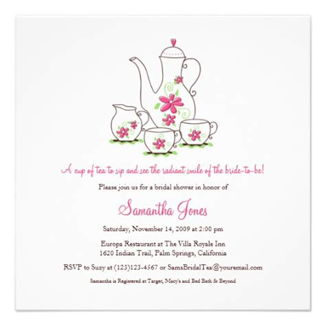 high tea menu template free