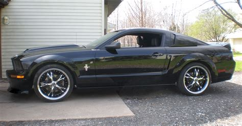 black 2007 ford mustang coupe mustangattitude photo