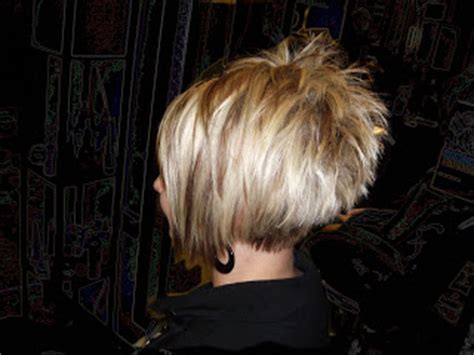 spiky top inverted bob style them fabulous pivot stacked a sym a line