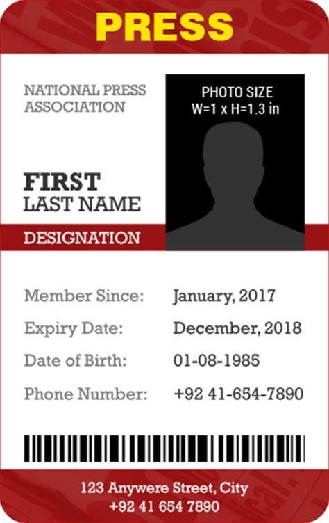 press id template press identity card design sles www pixshark