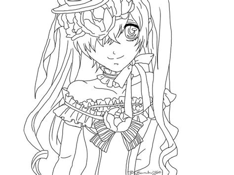 ciel color black butler ciel colouring pages coloring page lime