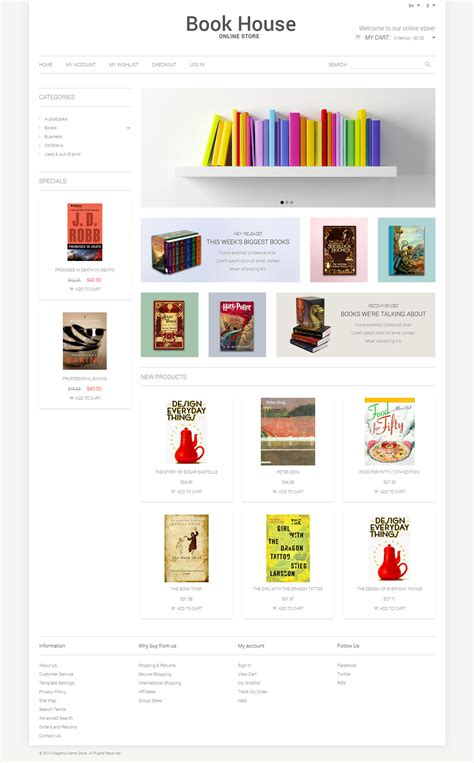 magento themes store book store responsive magento theme 50899