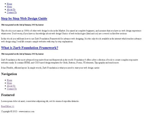 foundation css tutorial video step 1 basic html5 step by step tutorial