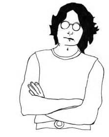 imagenes animadas de john lennon dibujo de john lennon para colorear dibujos para
