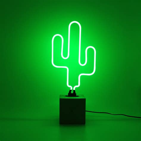 edit neon led feature light cactus lighting direct