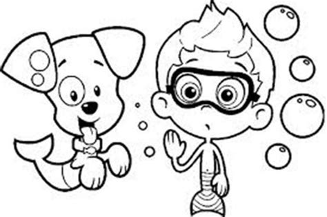 bubble guppies coloring pages nick jr cute bubble guppies coloring pages for preschoolers color