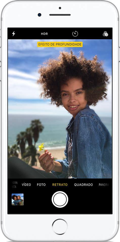 usar o modo retrato no iphone suporte da apple