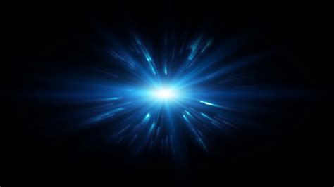 blue lens flare with particles motion background videoblocks