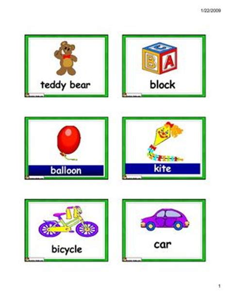 printable first words flashcards for toddlers 31 best images about toys theme on pinterest toys