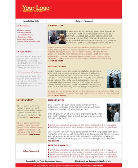 newsletter template software free newsletter for website template software