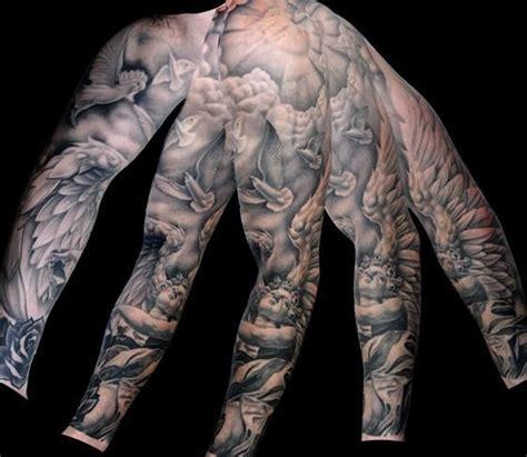 black and grey heaven tattoos 21 full sleeve religious tattoos