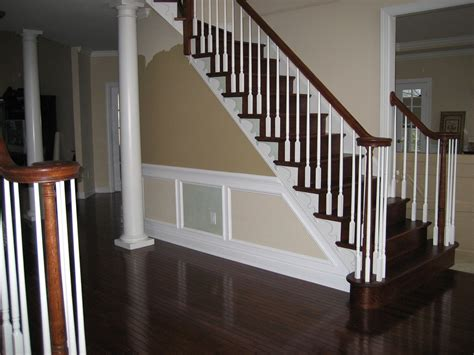 wood stair banisters wooden and metal stair railing ideas founder stair