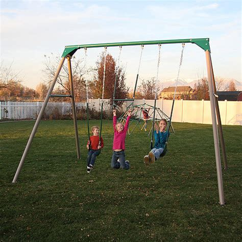 best swing set for the money lifetime 10 metal swing set walmart com