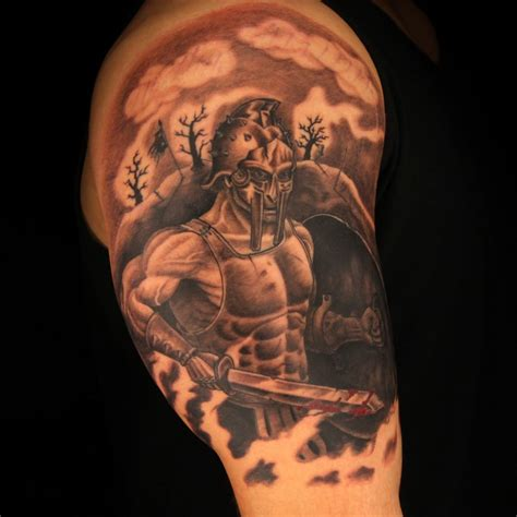 gladiator tattoo great gladiator arm tattoomagz