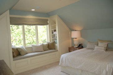 vaulted ceiling bedroom closet  window seat small