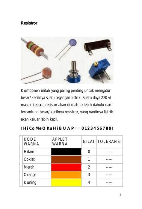 Tabung Coklat Vl dasar dasar teknik elektronika