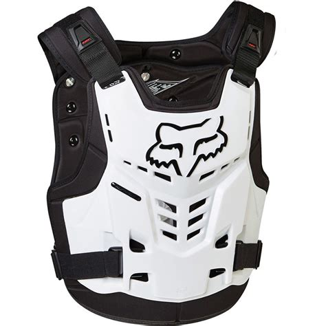 fox motocross body armour fox racing new mx proframe lc white chest protector guard