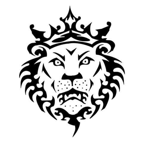 lion tattoo logo lion head stencil type design perfect for going on our