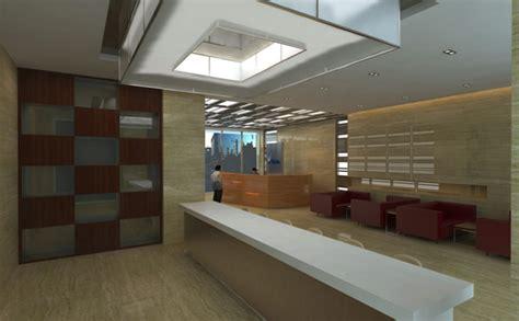 desain meja concierge  receptionist  perkantoran