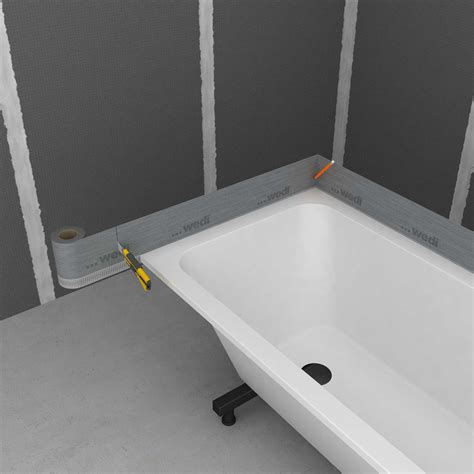 sealing a bathtub wedi tools tub sealing tape for reliable sealing of