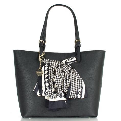 dkny r3310901 women s saffiano scarf shopper bag