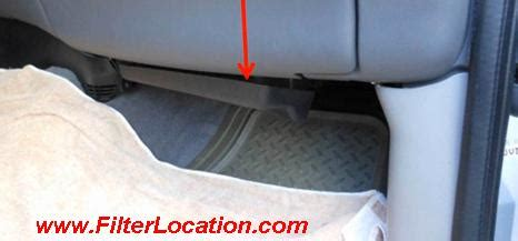 ford  cabin air filter localization filterlocationcom