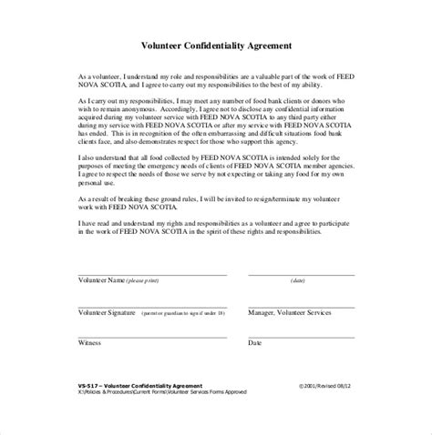 Confidentiality Agreement Template Canada