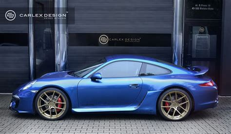 porsche electric interior porsche 911 gets electric blue interior by carlex design