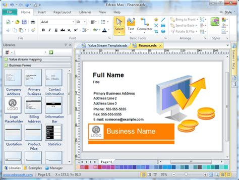 create software free business card software free business card templates