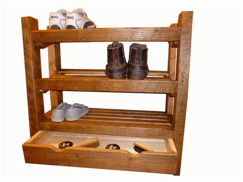 wood shoe rack shoe rack rustic wooden shoe rack with by captainscraftworks