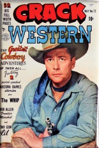 crack western   cover fridge magnet cowboy comics comic book gun
