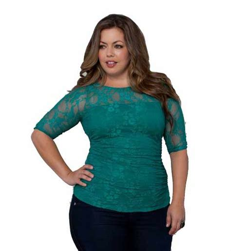 Blouse Bigsize Lena plus size lace tops for