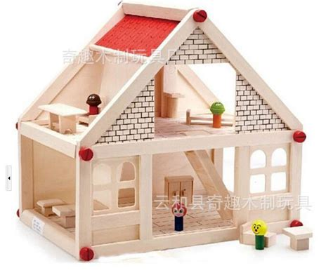 dolls house for children baby wooden assemble doll house huge wood villa with furniture and dolls for kids