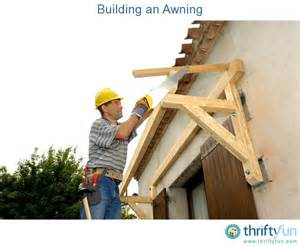 How To Build An Awning by Building An Awning Thriftyfun